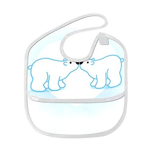 Weißer arktischer Eisbär Tier Gewohnheits weicher wasserdichter waschbarer Fleck und geruch beständiges Baby das Dribble Sabberlätzchen Lätzchen spuckt spuckt Tücher Säuglingsoverall 6-24 Monate