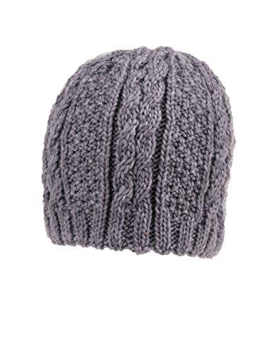 MaxiMo Topfmütze mit Perlstruktur - Bonnet - Fille Gris (metallmeliert 5)