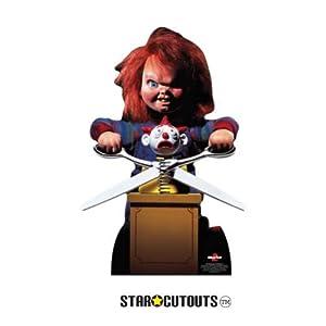 Star Cutouts SC1306 Chucky con tijeras para niños, perfecto para Halloween, amigos y fans, multicolor