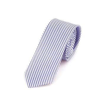 Schmale blau-weiße handgefertigte Krawatte 5 cm // verschiedene Farben wählbar