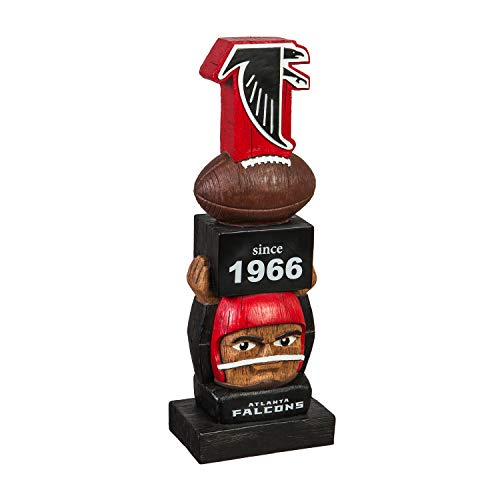 Team Sports America Atlanta Falcons Vintage NFL Tiki Totem Statue Atlanta Falcons Uniform
