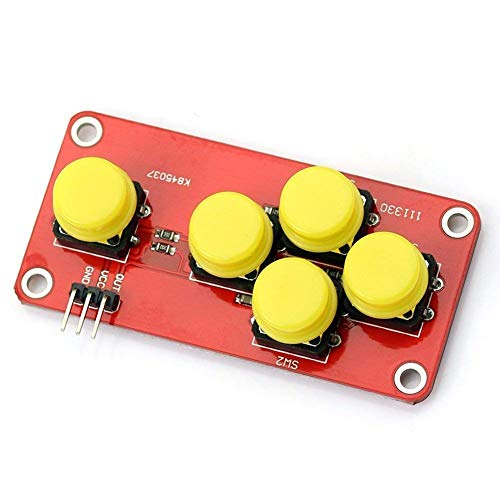 UIOTEC AD Keyboard Simulate Five Key Module Button Sensor Expansion Board Key Expansion Modul