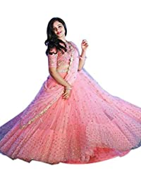 Gloxi Women's Peach Color Lehenga Choli