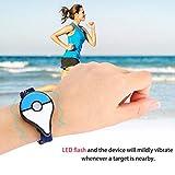 Lorenlli Bracelet Bluetooth, Dispositif Intelligent de Bracelets sans Fil Bluetooth avec Ajustement du Flash LED pour Pokemon GO Plus Jouet interactif Android Figure iOS