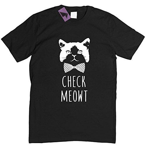 Prism Clothing Co. Herren T-Shirt Weiß Weiß Schwarz - Schwarz
