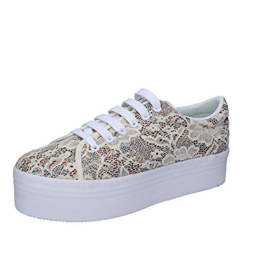 J.C. PLAY JEFFREY CAMPBELL Sneaker Femme 41 EU Beige Textile