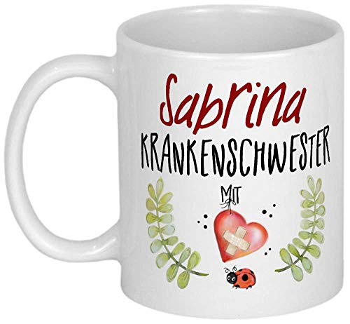 My Sweetheart® Krankenschwester Geschenk PERSONALISIERTE Geschenke Dankeschön Tasse mit Namen Danksagung