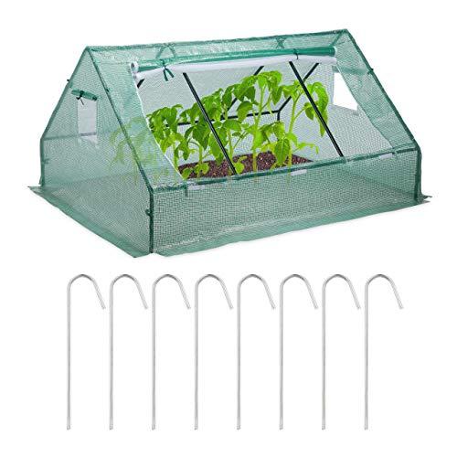 Relaxdays Serre de Jardin Serre de Balcon Bâche Housse Tente Semis Plantes tomates 110x180x150cm