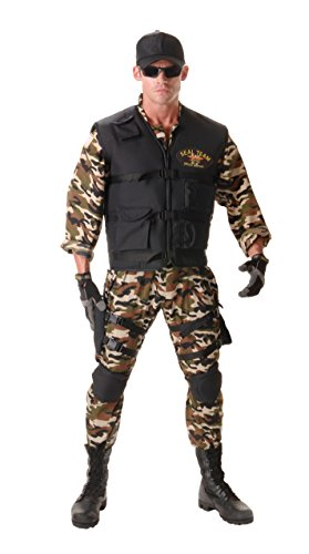 Adult Xx Large Kostüm - Underwraps Seal Team Deluxe