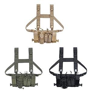 SimpleMfD Männer Frauen Tactical Chest Rig Tasche Radio Harness Chest Front Pack Tasche Military Vest Chest Rig Tasche Einstellbare Two Way Radio Pocket Hüfttasche