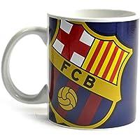 FCB FC Barcelona - Taza de dos tonos con el escudo del equipo capacidad de 325