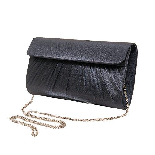 Pochette da giorno , Evening Bag 20 cm , Satin Mod. 2045 by fashion-formel blu