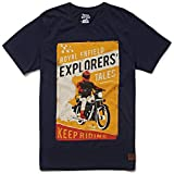 Royal Enfield Explorers Tales TSAW18006 T-Shirt (Navy, L)