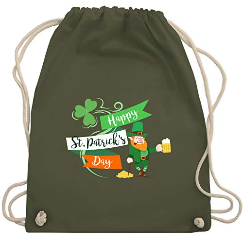 St. Patricks Day - Happy St. Patricks Day Kobold - Unisize - Olivgrün - WM110 - Turnbeutel & Gym ()