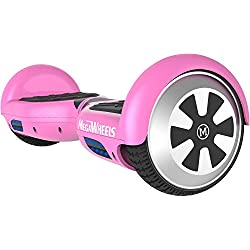 "M MEGAWHEELS 6.5"" Monopatin Electrico con Bluetooth - 500W Motor - Bolsa Incluida (Rose)"