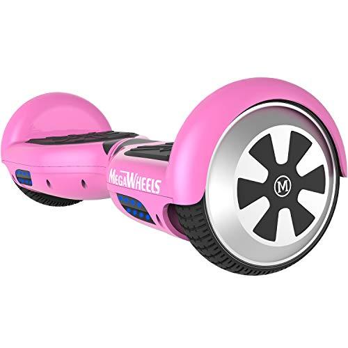 "M MEGAWHEELS 6.5"" Smart Self Balance 500W Motore Scooter con LED,Bluetooth Altoparlante (Rosa)"