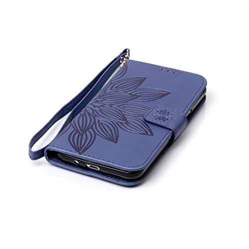 New Style gepresst Embossing Blumen Windchime Muster Retro Folio Flip Stehen Wallet Case mit Handschlaufe für Samsung Galaxy J310 ( Color : 14 , Size : Samsung Galaxy J310 ) 16