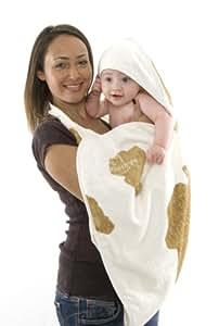 cuddledry CC01 Das Original-Schürzen-Babybadetuch mit Kuhmuster