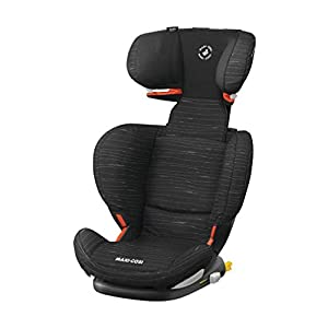 Maxi Cosi RodiFix AirProtect Child Car Seat, ISOFIX Booster Seat, Extra Protection, 3.5-12 Years, 15-36 kg, Scribble Black   1