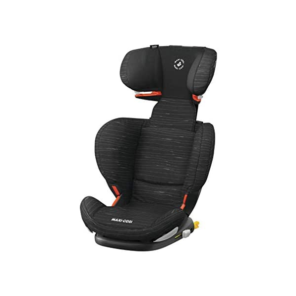 Maxi Cosi RodiFix AirProtect Child Car Seat, ISOFIX Booster Seat, Extra Protection, 3.5-12 Years, 15-36 kg, Scribble Black Maxi-Cosi Booster car seat for children from 15 to 36 kg (3.5 to 12 years) Grows along with your child thanks to the easy headrest and backrest adjustment from the top Patented AirProtect technology for extra protection of child's head 1