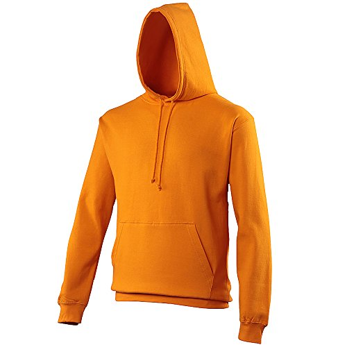 Pullover College Hoodie - 46 Different Colours Available Orange Crush