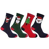 Herren Weihnachtssocken, 4er-Pack