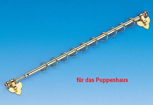 Preisvergleich Produktbild längenverstellbare Gardinenstange mit Ringen für das Puppenhaus