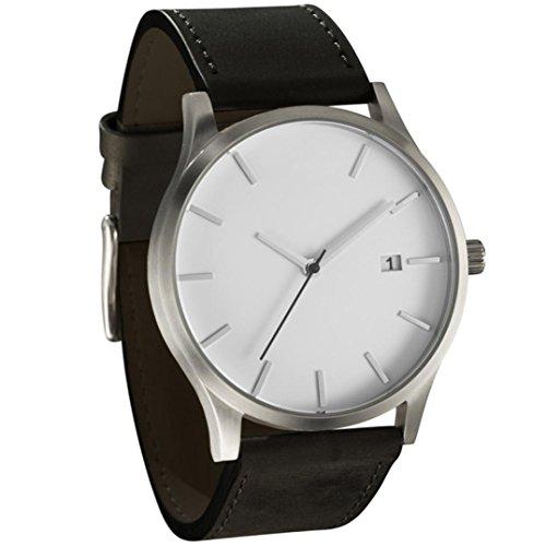Herren Quarz Armbanduhr, Hansee Mode beliebte Low Key minimalistischen Konnotation Leder Uhr (B) (Französisch Manschette-band)