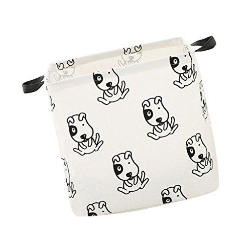 Fenteer Kleidung Aufbewahrungskörbe Spielzeugkiste Faltbar Aufbewahrungsbox Kinder Spielzeug Organizer - Hund (Wasserdicht Hund Bettwäsche)