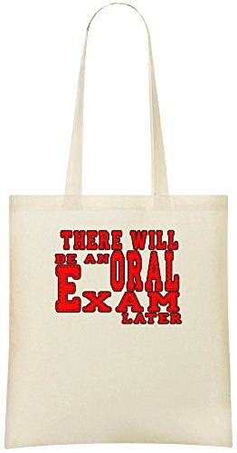 Es wird später eine mündliche Prüfung geben - There Will Be An Oral Exam Later Custom Printed Shopping Grocery Tote Bag 100% Soft Cotton Eco-Friendly & Stylish Handbag For Everyday Use Custom
