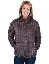 Puffa Jacket para mujer Allington, todo el año, mujer, color Marrón - Braun - Dark Chocolate Check, tamaño 46