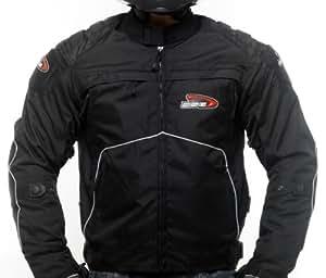 DSG Nylon/600 Denier Cordura Fabric Nero Jacket (Black, Large)