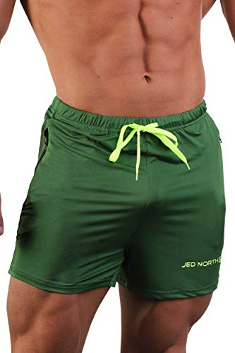 rts Bodybuilding Workout Gym Running Tight Lifting Shorts - Grün - Klein ()