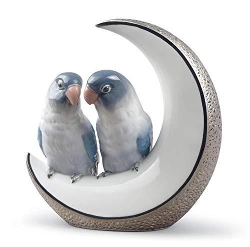 Figura pájaros Llévame a la Luna. Lustre Plata