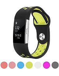Kutop Fitbit Charge 2 Correa, Suave Silicona deportivo Reemplazo de Banda de Gel Sílice Pulsera de Reloj Ajustable para Fitbit Charge 2