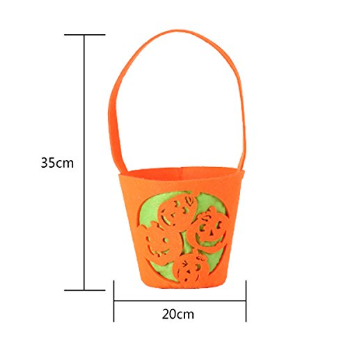 Halloween Liefert Requisiten. 20 Kürbis-Lichter. Kürbis-Tasche Der Kinder Vlies-Süßigkeit-Beutel-Kürbis-Handtasche Enthält 20 Stücke,7