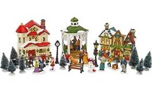 24pc-christmas-village-twinkle-town-collectable-villages-light-up-houses