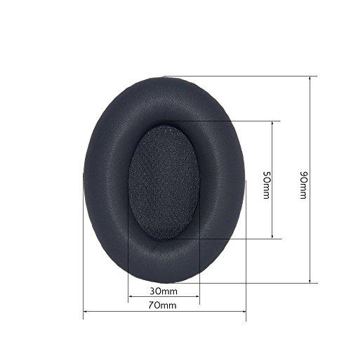 Conambo Neue Leder Kopfhörer Ohrpolster Ersatz Kopfhörer Ohr – Kissen Audio Ersatz-Schaum Ohrpolster Für Bose Kopfhörer AE1 Triport 1 TP-1 TP-1A (1 Pair Schwarz) - 3