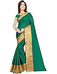 Sarees(Women's Clothing Saree For Women Latest Design Collection Fancy Material Latest Cotton Silk Sarees With... - B077HSL8ZD