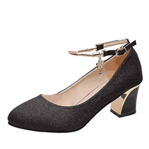 Scarpe da ballo tacco alto da donna,paolian eleganti signore moda casual punta tonda selvaggia tacco spesso scarpe da sposa scarpe da lavoro tacco alto scarpe singole