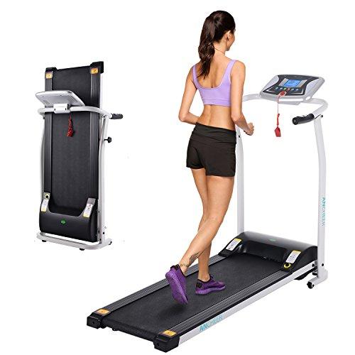 Oplon Laufband Elektrisch Heimtrainer Klappbar Laufband Klein, Herzfrequenz-Monitor-Funktion, 1,5 PS, 0.8 bis Maximal 9.6 km/h