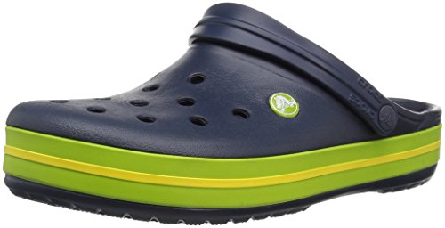 crocs Unisex-Erwachsene Crocband U Clogs, Blue (Navy/Volt Green/Lemon), 48/49 EU