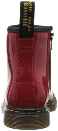 Dr. Martens Brooklee, Boots mixte bébé Rouge (Red Patent Lamper)