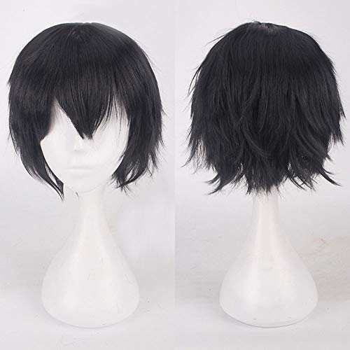 amen Multi Color Short Glattes Haar Perücke Anime Party Cosplay Volle Verkauf Perücken 35cm ()