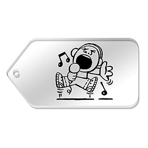 10 x Grand 'Garçon Chantant une Chanson' etiquettes de bagage / cadeau (TG00038826)