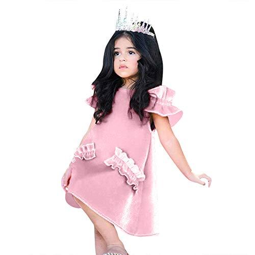 Chteng Raperonzolo capelli per bambini contorte Vestito Costumi Bambino Parrucca Forcina