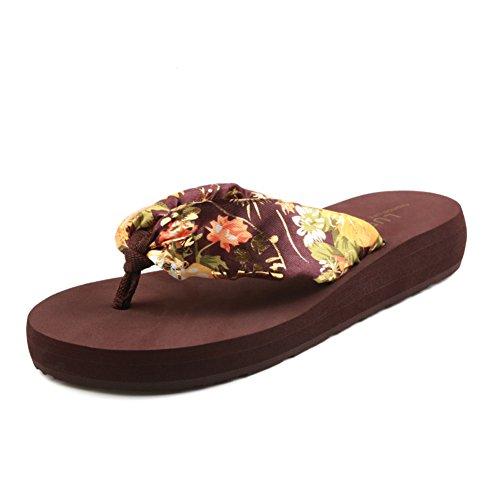 ladies infradito/Piattaforma con antiscivolo clip in estate/Pantofole B
