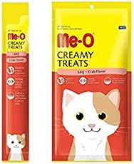 Perfect Companion Me-O Creamy Treats for Cats and Kittens Pack of 12 (Crab)