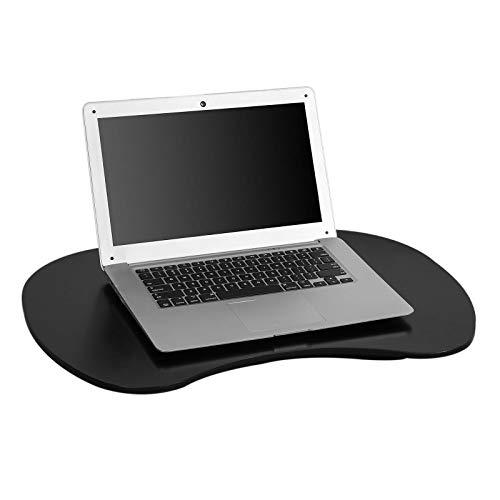 SoBuy FBT70-SCH Laptop-Schoßtablett Laptopkissen Laptop Unterlage mit Griff Notebooktisch Lapdesk Schwarz, BHT: ca. 59x 8x40cm