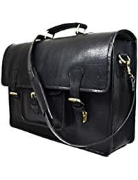 Delphi Leather Black Office Bag